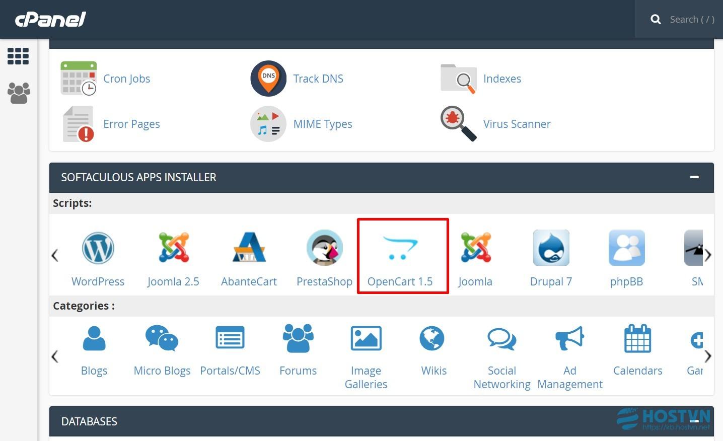 cPanel] Hướng dẫn cài đặt OpenCart bằng ứng dụng Softaculous