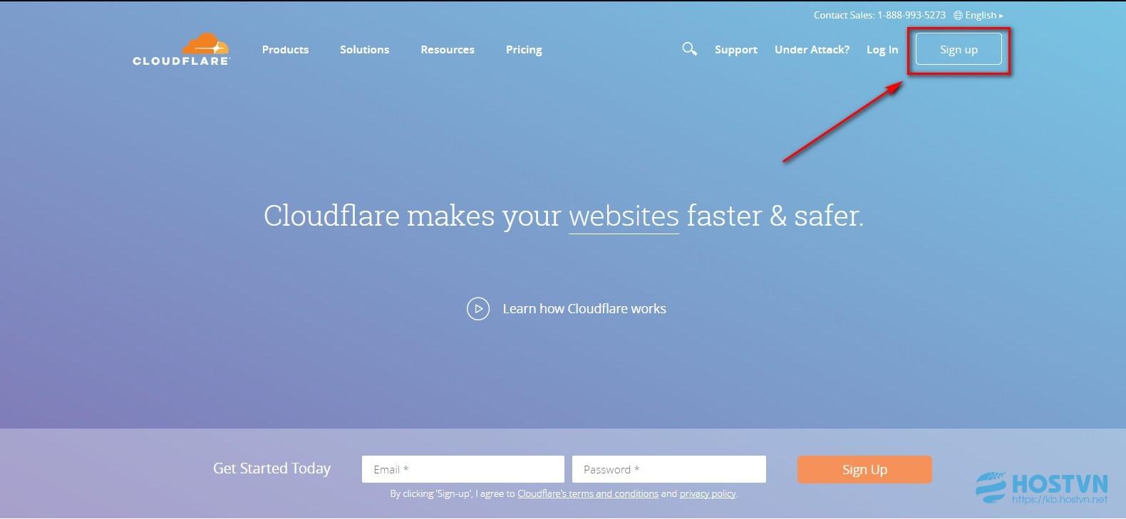 Hướng dẫn sử dụng Cloudflare hạn chế tấn công từ chối dịch