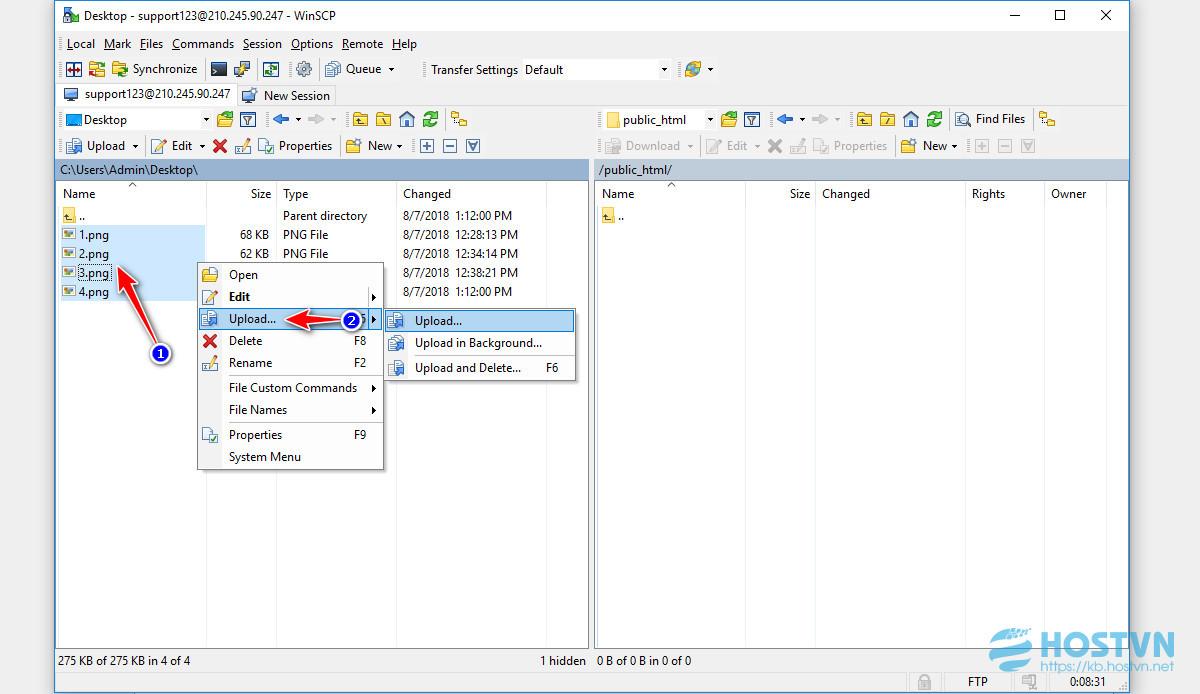 Hướng dẫn upload dữ liệu lên hosting bằng WinSCP - Tài liệu