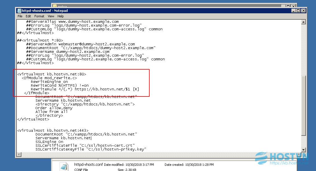 Hướng dẫn cài đặt SSL trên VPS Windows sử dụng XAMPP - HOSTVN